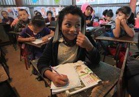Alrededor de 324 mil niños podrían ser promovidos de primaria. (Foto Prensa Libre: Hemeroteca PL)