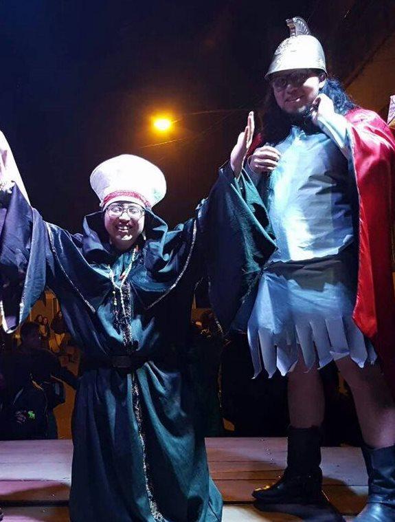 Jessica Ángel ganó el concurso de Rey feo en el Cusam.(Foto Prensa Libre: Whitmer Barrera)