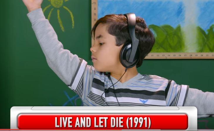 Reacciones de niños al escuchar la música de de Guns N' Roses (Foto Prensa Libre: Tomada de YouTube)