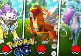 Raikou, Entei y Suicune, se podrán capturar en diferentes zonas del mundo dentro de la aplicación. (Foto Prensa Libre: i.ytimg.com)