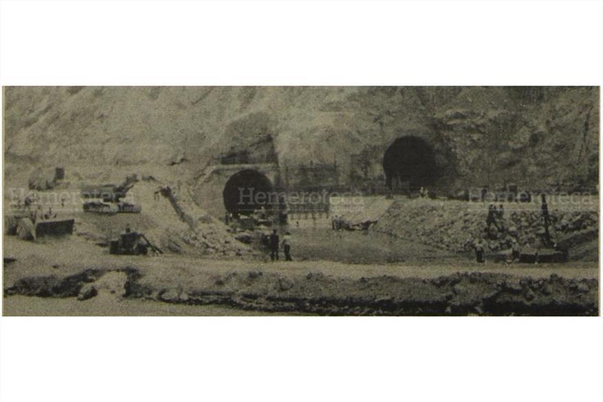 26/03/1979 Túneles  por donde fue desviado el río Chixoy. (Foto: Hemeroteca PL)