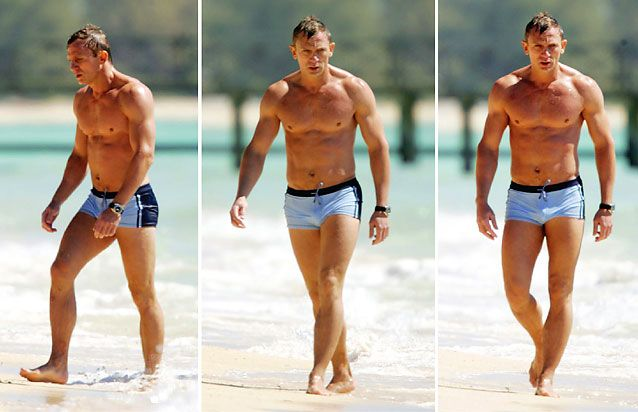 Si tiene piernas y espalda bien tonificadas, Daniel Craig recomienda los briefs (Foto Prensa Libre: Hemeroteca PL).