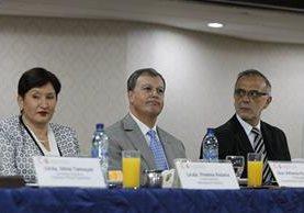 Emnbajador de España reunido con el jefe de la Cicig y la fiscal del Ministerio Público. (Foto Prensa Libre: Paulo Raquec)