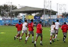 Las instalaciones del estadio Mario Camposeco serán utilizadas para un concierto el fin de semana. (Foto Prensa Libre: Raúl Juárez)