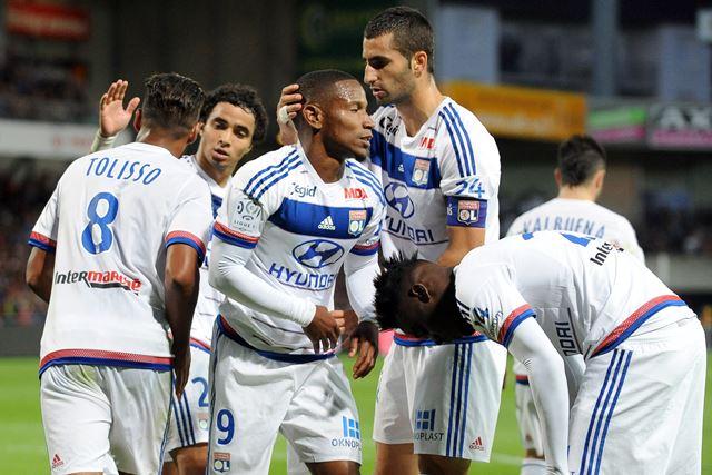 Los de Lyon celebran el triunfo (Foto Prensa Libre: AFP)