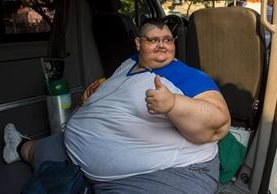 Juan Pedro Franco, es considerado el hombre más obeso del mundo. (Foto Prensa Libre: AFP)