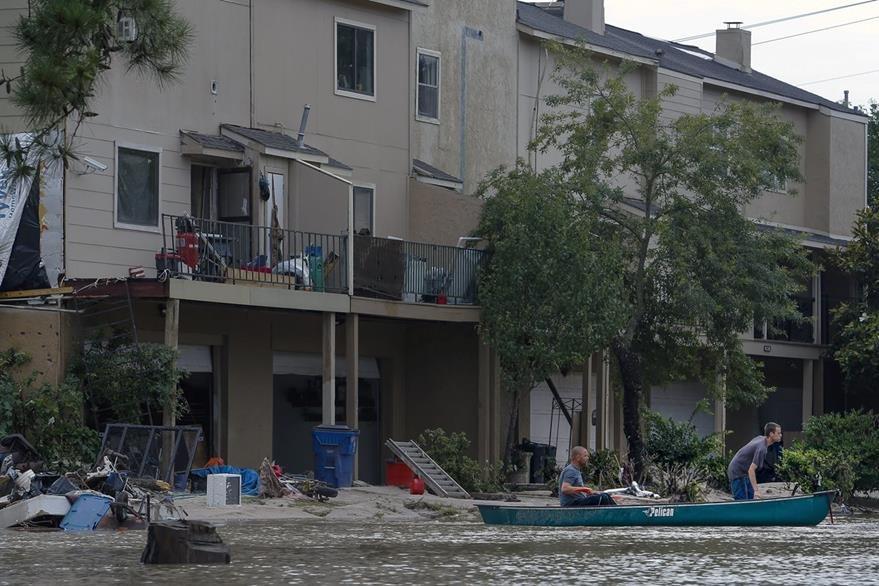 La lluvia ha causado estragos en los últimos días en Texas, EE. UU. (Foto Prensa Libre: AP).