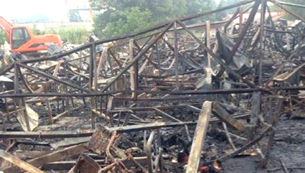 Imagen difundida en internet sobre el incendio en el asilo en China. (Fuente: livenewspak)
