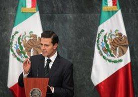 Enrique Peña Nieto, presidente de México. (Foto Prensa Libre: EFE).