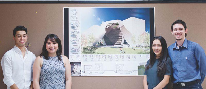La distintiva bóveda gótica está presente en la propuesta del tercer lugar. (Foto cortesía Alejandra Sánchez).
