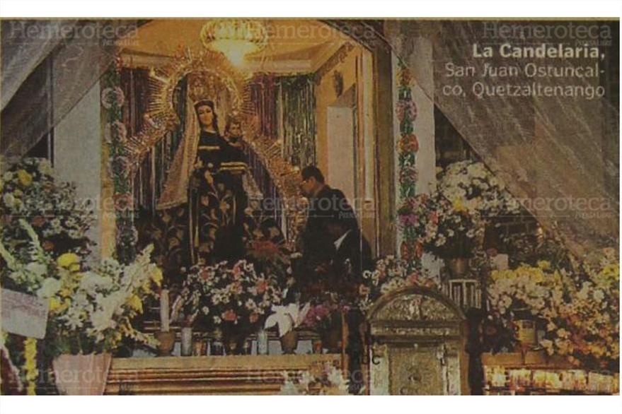 Virgen de Candelaria de San Juan Ostuncalco, Quetzaltenango. (Foto: Hemeroteca PL)