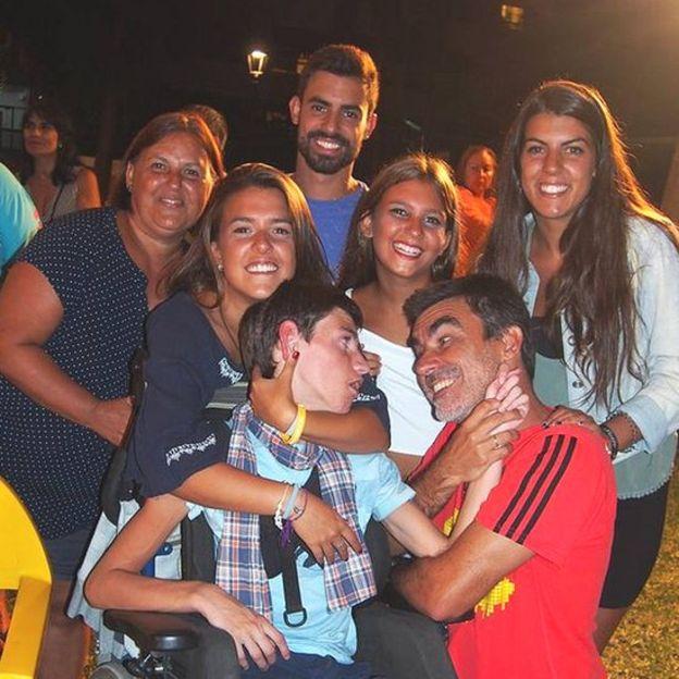 José Manuel Roás y su esposa Maite tienen cinco hijos: Mario, Laura, Miriam, Pablo y Ana. (Foto gentileza José Manuel Roás).