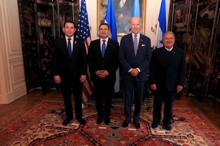 Los presidentes del Triángulo Norte y el vicepresidente de Estados Unidos firmaron una carta conjunta. (Foto Prensa Libre: Hemeroteca PL)