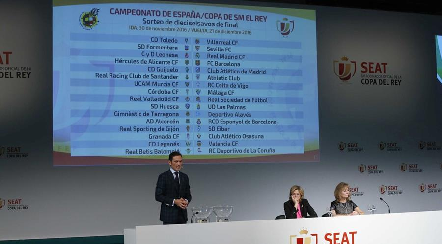 Así quedaron los emparejamientos de los dieciseisavos de final de la Copa del Rey, ronda en la que ya entran los equipos de La Liga Santander, en un acto celebrado hoy en la Ciudad del Futbol de Las Rozas. (Foto Prensa Libre: EFE)
