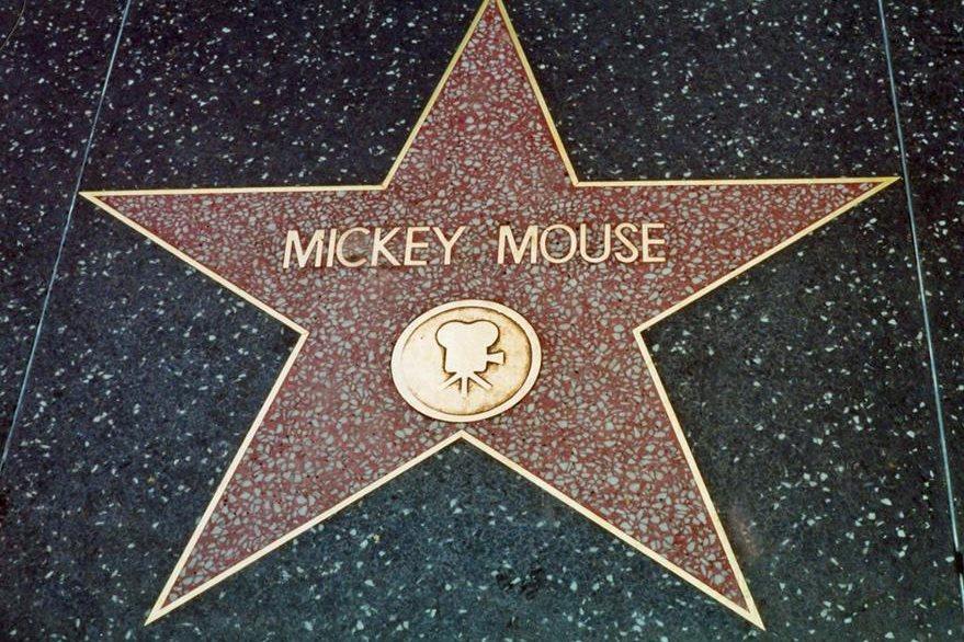 El nombre del ratón es parte del Paseo de la Fama. (Foto Prensa Libre: Hemeroteca PL)