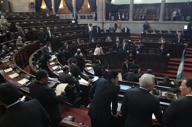 En una sesión exprés el Congreso aprobó en segundo debate los cambios a la Ley Electoral. (Foto Prensa Libre: Álvaro Interiano)