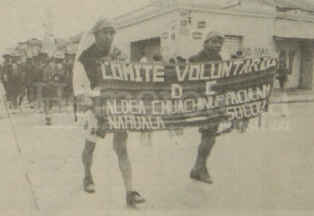 Presencia de patrulleros de autodefensa civil en el desfile castrense de 1991. (Foto: Hemeroteca PL)