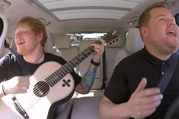 Ed Sheeran es el invitado especial del próximo episodio de Carpool Karaoke de James Corden. (Fotografìa Prensa Libre: Daily Express)