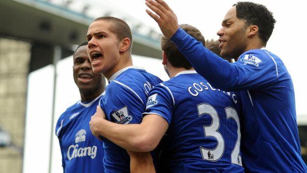 Rodwell fue considerado como una de las grandes promesas del fútbol inglés cuando debutó con el Everton a los 16 años. (Getty Images)