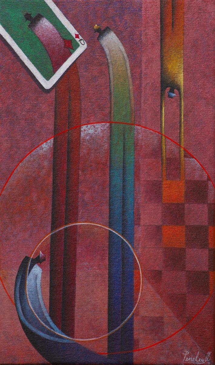 En la composición pictórica de Peneleu, están presentes los círculos, el color y sus personajes alargados. (Foto Prensa Libre: Hemeroteca PL)
