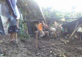 Área donde ocurrió el deslave en El Quetzal, San Marcos. (Foto Prensa Libre: Conred).