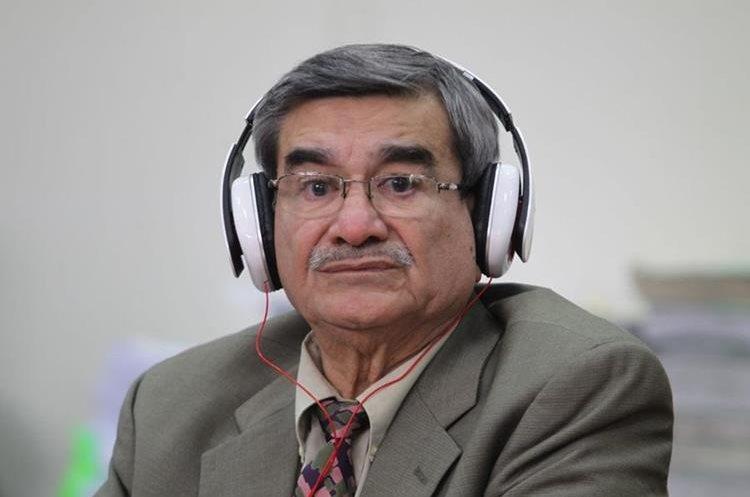 José Rodríguez Sánchez durante la audiencia de reinicio de juicio por genocidio. (Foto Prensa Libre: Érick Ávila)
