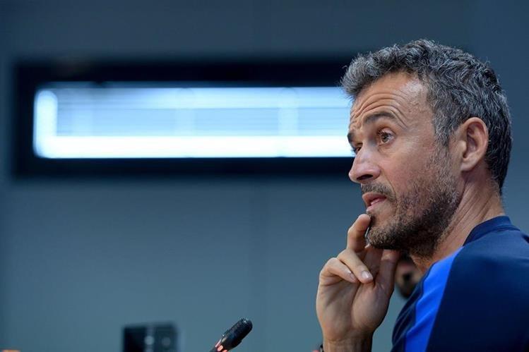 Luis Enrique Martínez, director técnico del Barcelona, habló de partido contra el Atlético de Madrid. (Foto Prensa Libre: AFP)