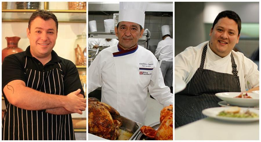 Cocinero se preparan para una noche que exige calidad y servicio. (Foto Prensa Libre: E. García y P. Raquec)