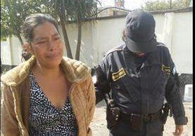 Ana Victoria Alvarado López, de 35 años, capturada en el Mezquital (Foto cortesía PNC)