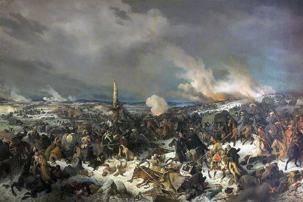Imagen de La Batalla en el río Berezina, 29 de noviembre de 1812, que forma parte de la muestra (Foto Prensa Libre: EFE).