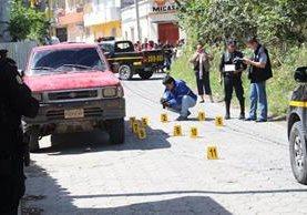 Crimen ocurrido el 10 de enero en la colonia Quirio Cataño, Esquipulas. (Foto Prensa Libre: Mario Morales)