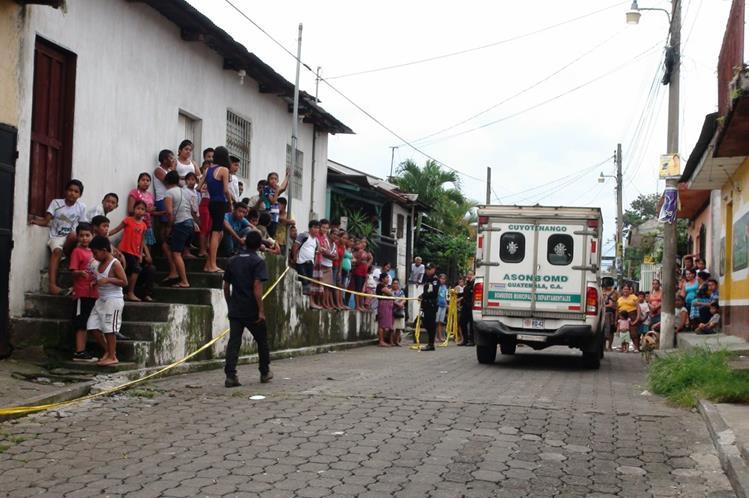 El negocio donde se cometió el crimen está ubicado en el cantón Parroquia. (Foto Prensa Libre: Melvin Popá)