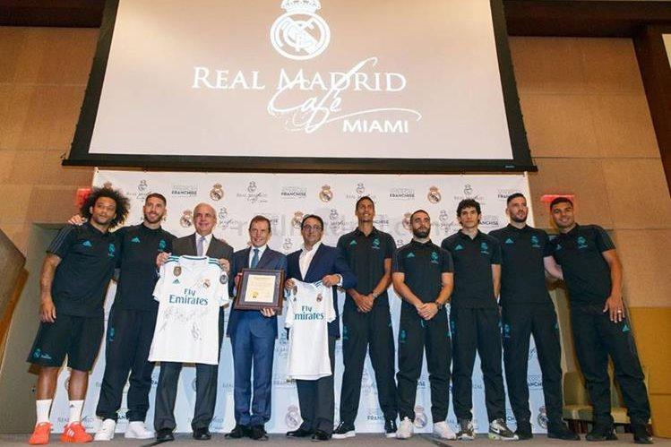 Así fue la presentación de Café Madrid en Miami el viernes. (Foto Prensa Libre: Real Madrid C.F)