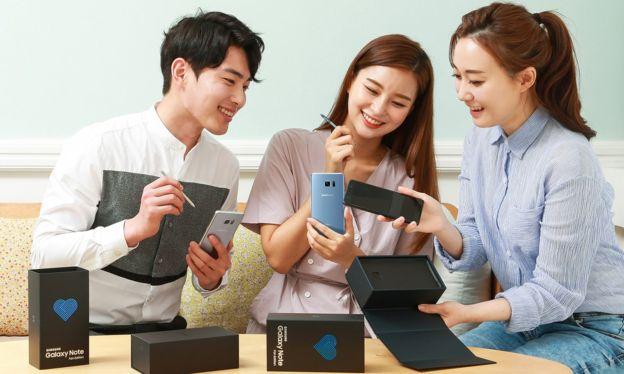 """Samsung dice que su Galaxy Note FE es """"completamente seguro"""". (SAMSUNG)"""