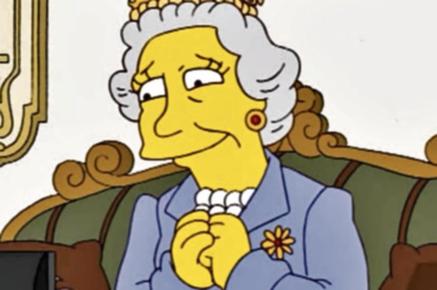 La serie Los Simpson ha parodiado en varias ocasiones a la reina. (Foto Prensa Libre: Hemeroteca PL)