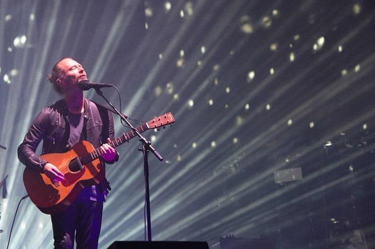 El grupo inglés Radiohead fue el plato fuerte del viernes en el Festival de Coachella, en California. (Foto Prensa Libre: AFP).