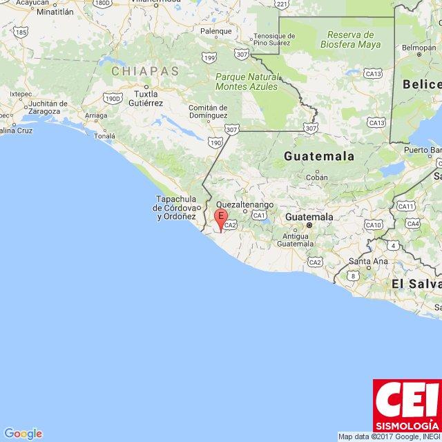 El sismo fue sensible en gran parte de Guatemala sin que dejará daños materiales. (Foto Prensa Libre: CEI sismología)