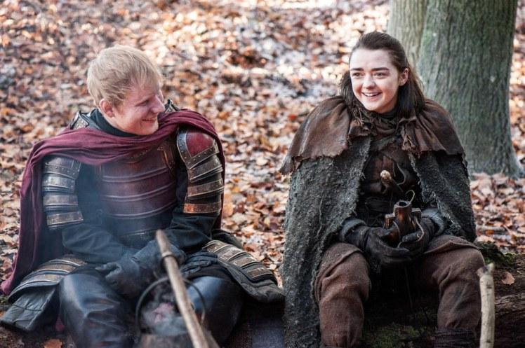 Ed Sheeran tuvo una aparición estelar en el inicio de la nueva temporada de Juego de Tronos (Foto Prensa Libre: HBO).