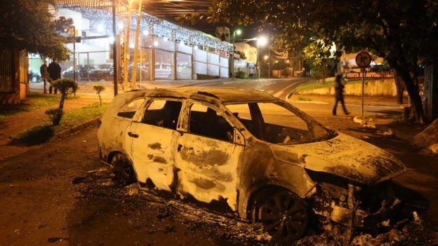 """El jefe de policía de Paraguay, Luis Rojas, dijo que era """"muy factible"""" que los atacantes tuvieran ayuda dentro de la policía. GETTY IMAGES"""