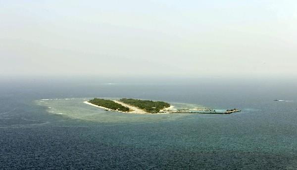 La isla de Taiping, también conocida como Itu Aba, en el Mar de la China.(EFE).