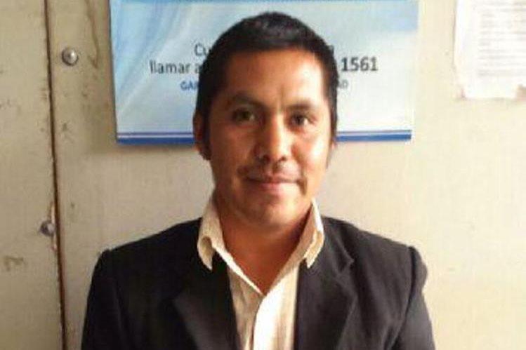 El fiscal del MP, Edmundo Jiménez Crisóstomo, fue capturado en San Marcos. (Foto Prensa Libre: PNC)
