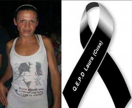 Laura Moyano, la chica transexual que fue asesinada. La comunidad homosexual de Argentina pide justicia. (Foto: El Clarin).