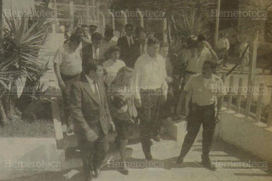 El ex vicepresidente Gustavo Espina decidió volver a Guatemala el 7 de marzo de 1995. (Foto: Hemeroteca PL)
