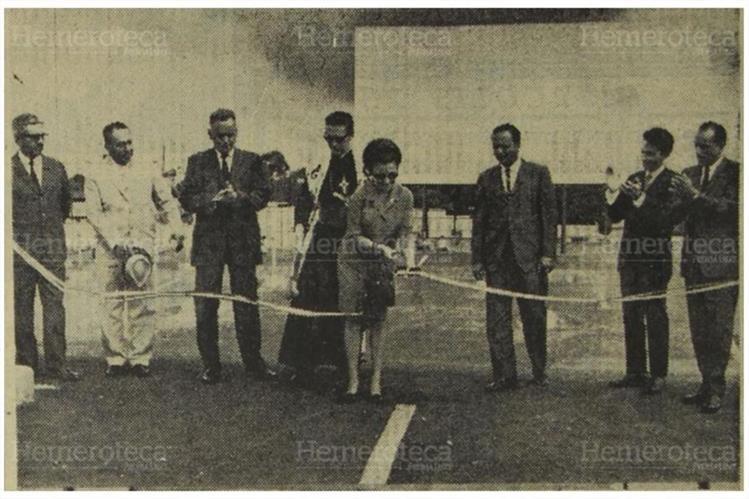 Josefina Alonso inaugura el primer autocinema en octubre de 1968.(Foto: Hemeroteca PL)