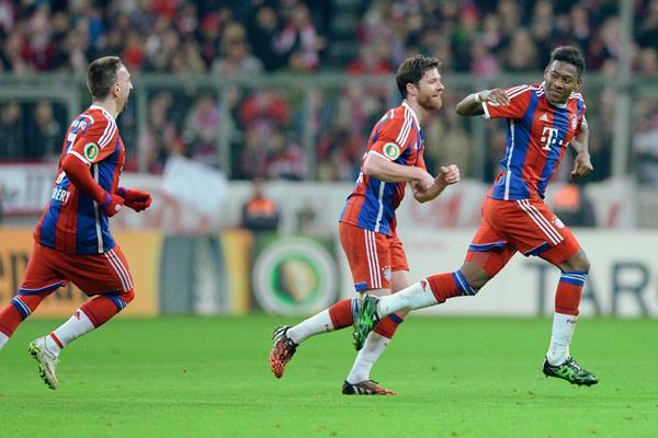 El Bayern Munich certificó su pase a los cuartos de final de la Copa alemana: (Foto Prensa Libre: AFP).