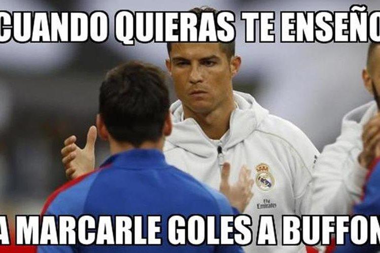 Muchos también se recordaron de Lionel Messi durante la final de Champions. (Foto Prensa Libre: Redes Sociales)