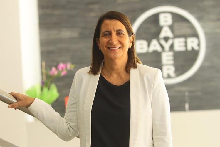 Patricia Spat, gerente general de Bayer Guatemala, dirige una operación de 531 trabajadores distribuidos en dos plantas en el país. (Foto, Prensa Libre: Álvaro Interiano).