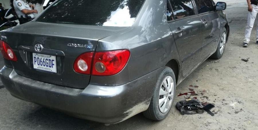 Este es el vehículo involucrado en el ataque armado en Chimaltenango. (Foto Prensa Libre: PNC)