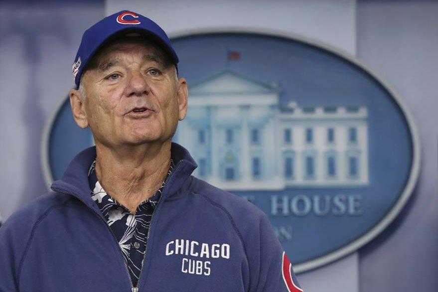 Bill Murray es uno de los seguidores más fieles de los Cachorros. (Foto Prensa Libre: AP)