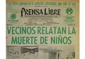 Portada de Prensa Libre que informó sobre el caso de la enfermera que mató a sus cuatro niños. (Foto: Hemeroteca PL)